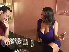 Honcho sharp practice wife Persia Monir flashes her tits and gets fucked