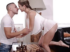 Chess is no fun and slutty Mary Rock wanna be fucked instead