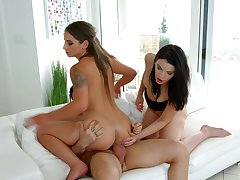 Insolent babes are having a wild time sharing cock like excellent