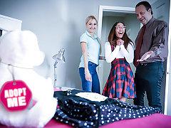 Foster Parents Give New Adoptee Libidinous Chores