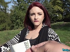 Lola Fae fucks for cash and gets her furry pussy covered in cum