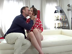Horny Italian supplicant Rocco Siffredi fucks slender chick with plump ass Jessika Murk