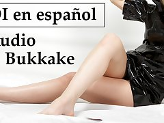 Spanish audio, JOI Bukkake con amigos.