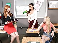 Sucking Up Close to The Teacher!