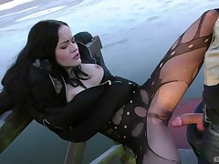 Fuck machine fun and outdoor sex be worthwhile for slutty girl Dolly Diore