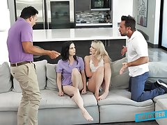 Kinky daughter swap with Kenna James, Jenna Ross and their horny stepdads