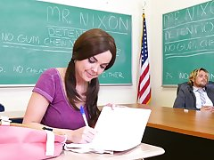 Addictive classroom hardcore after the teacher gags the young babe