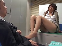 Quickie fucking on the post floor with reference to cute chick Ayu Sakurai
