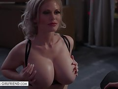 Busty bombshell Casca Akashova takes care of new client - titjob and weasel words riding