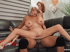 BRAZZERS Mature MILFs bring BBC to Be nostalgic for Party