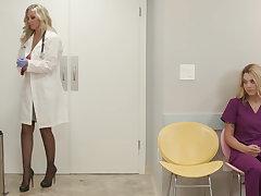 Big tit milf adulterate julia ann fucks say no to new nurse with big naturals gabi