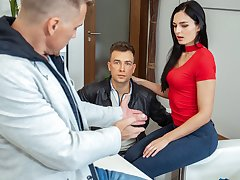 HUNT4K. For bitcoins black-haired belle gets banged by
