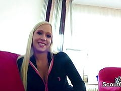 Rought Fake Casting for German Blonde Teen with Big Tits