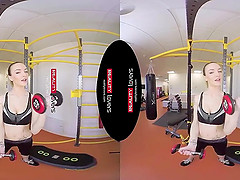 Anal Workout for Fit Gym Teen in VR action