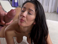 Slutty teen babe Darcia Lee sucks and gets fucked by a fat cock