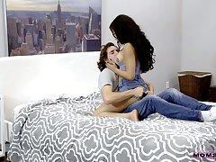 Hot stepmom Maya Bijou helps stepson to be thrilled by sexy girlfriend