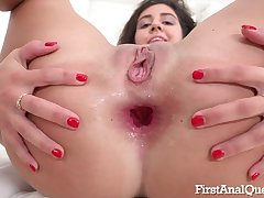 It's Her First Keister Sex Hump - ANALDIN