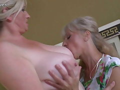 Lesbian prepare sex with grannies and young girls