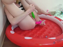 Sitting In a Pool For My Own Hot Cum