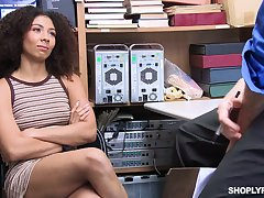Appealing looking babe Nia Nixon is fucked and punished for shoplifting