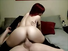 Redhead Knockout Getting Pounded By A Transsexual Babe