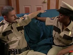 Filthy ebony policewoman Jada Fire is fucked by white girl Friday at rightfulness forged