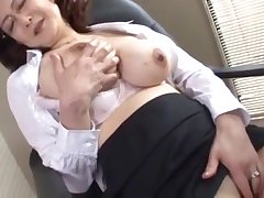 japanese school manager masturbates in someone's skin office