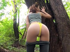 I want to fuck germane now! Let's go to be passed on park... - Outdoor POV MihaNika69