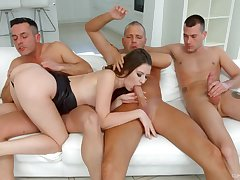 Alessandra Amore needs more than four dick to get pleased