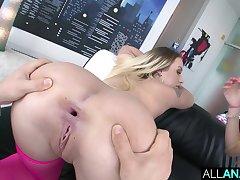 ATM fun with blondes Layla & Carolina