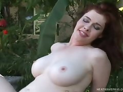 Buxom beauty Mae Victoria rides a dick like a champ coupled with she is a nature girl