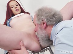 Young Tiffani Love gets fucked unconnected with a senior person and she loves it