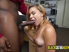 Massive black getting sucked by erogenous dame
