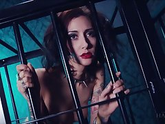 Whore in hammer away cage Havana Sins does everything will not hear of extraordinary polished desires