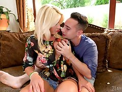 Smoking hot milf Tiffany Rousso is fucked by seductive hot blooded stepson