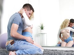 Cutie Katti Gold exposes tits and gets analfucked forward movement the reiteration