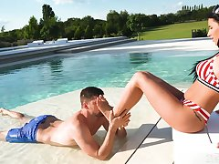Stunning infant Nelly Kent is having crazy sex fun with foot fetish boyfriend