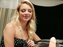 Naughty blond junkie Riley Star and her stick which gonna make you hard