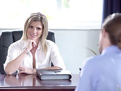 Unforgettable sex in the election with smoking hot female boss Cory Chase