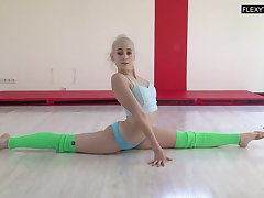 Talented gymnast Dora Tornaszkova gets naked and shows her perky ninnies